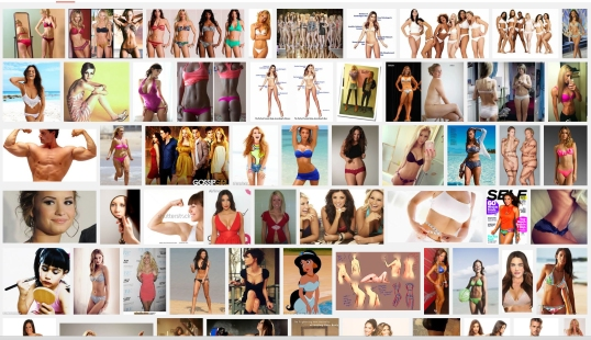 I Googled: Perfect Girls Bodies in the Media… how very unsurprising to see the results.