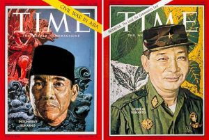 Cover of the March 10, 1958 issue of Time, featuring Sukarno, le